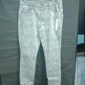 Women's Snakeskin Print High-Rise Skinny Jeans 14